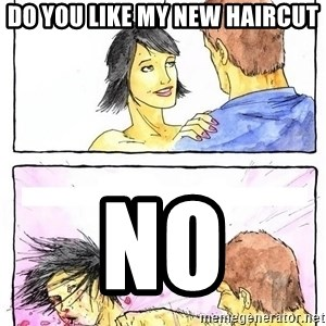 Alpha Boyfriend - do you like my new haircut no