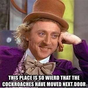 Willy Wonka - this place is so wierd that the cockroaches have moved next door