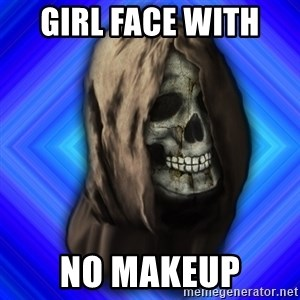 Scytheman - girl face with  no makeup