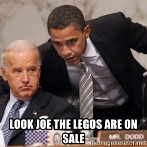 Obama Biden Concerned - LOOK JOE THE LEGOS ARE ON SALE