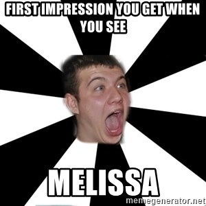Typical alko-chess player - First impression you get when you see Melissa