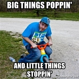 Thug Life on a Trike - Big things poppin'   AND LITTLE THINGS STOPPIN'