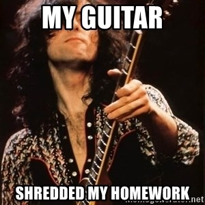 Jimmy Page - my guitar shredded my homework
