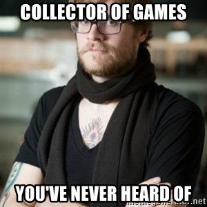 hipster Barista - collector of games you've never heard of