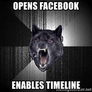 Insanity Wolf - opens facebook Enables timeline