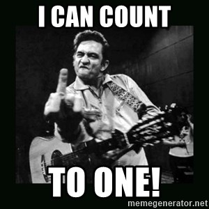 Johnny Cash - I can CouNT to ONE!