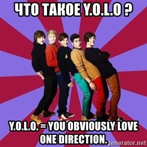 typical 1D - что такое Y.O.L.O ? Y.O.L.O. = YOU OBVIOUSLY LOVE ONE DIRECTION.