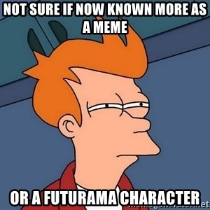 Futurama Fry - not sure if now known more as a meme or a futurama character