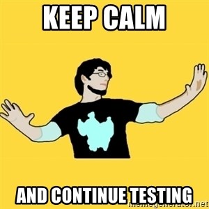 SCuta - KEEP CALM AND CONTINUE TESTING