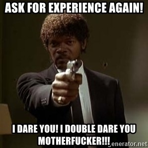Jules Pulp Fiction - Ask for experience again! I Dare You! I double Dare You MotherFucker!!!