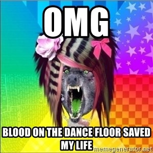 Scene Wolf - omg blood on the dance floor saved my life