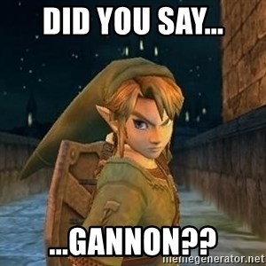Laughable Link - Did you say... ...Gannon??