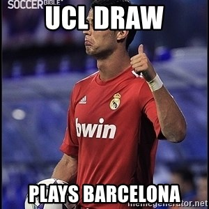cristiano ronaldo - UCL Draw Plays barcelona
