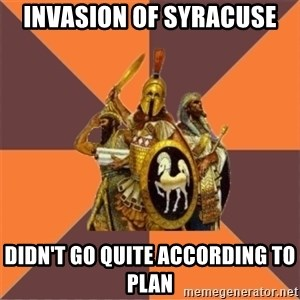 Age of Empires '97 - invasion of syracuse didn't go quite according to plan