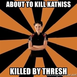 Badass Clove - About to kill katniss Killed by thresh