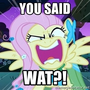angry-fluttershy - You said wat?!