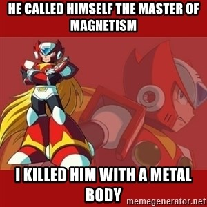 UMVC3 Zero - he called himself the master of magnetism i killed him with a metal body