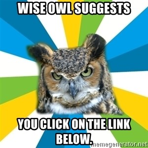 Old Navy Owl - wise owl suggests you click on the link below.