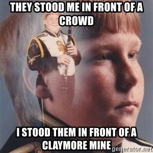 PTSD Clarinet Boy - they stood me in front of a crowd i stood them in front of a claymore mine
