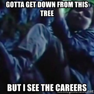 Hunger Games - Katniss Everdeen - gotta get down from this tree but i see the careers