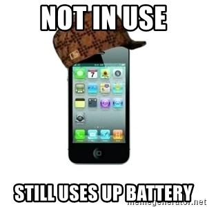 Scumbag iPhone 4 - Not in use Still uses up battery
