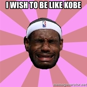 LeBron James - I wish to be like kobe