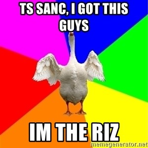 Guardgoose - TS SANC, I GOT THIS        GUYS IM THE RIZ