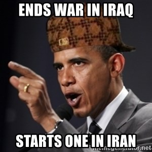 Scumbag Obama Claus - ends war in iraq starts one in iran