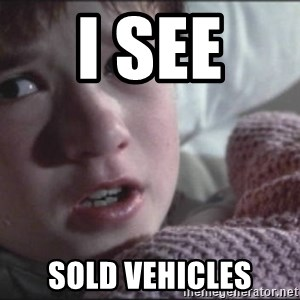 Dead People - I see  sold vehicles