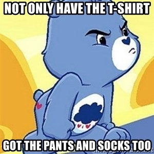 Grumpy Bear - nOT ONLY HAVE THE T-SHIRT GOT THE PANTS AND SOCKS TOO