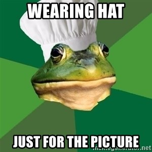 Foul Bachelor Frog - wearing hat just for the picture