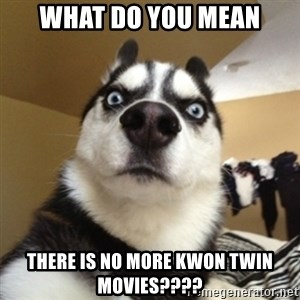 Surprised Husky - What do you mean there is no more kwon TWIN movies????