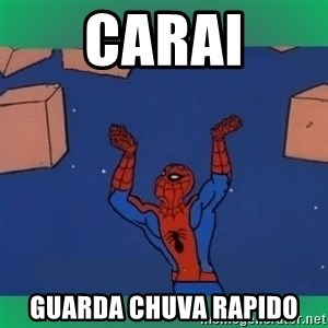 60's spiderman - carai guarda chuva rapido