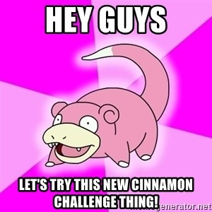 Slowpoke - hey guys let's try this new cinnamon challenge thing!