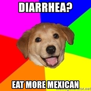 Advice Dog - diarrhea? eat more mexican