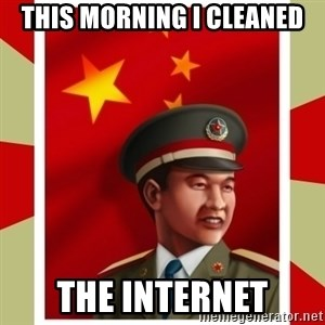 Stern but honest Chinese guy - THIS MORNING I CLEANED THE INTERNET