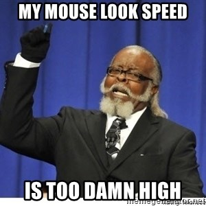 Too high - MY MOuse look speed  is too damn high