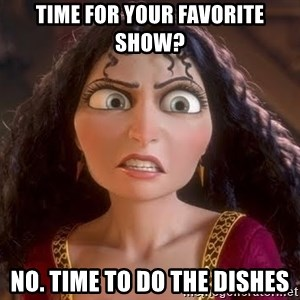 npd parents - Time for your favorite show? no. time to do the dishes