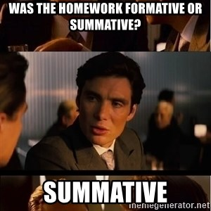 Inception Meme - was the homework formative or summative? summative