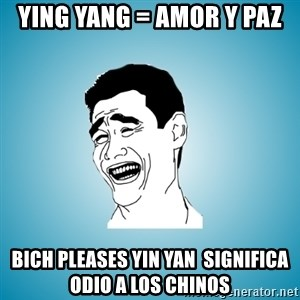 Laughing Man - ying yang = amor y paz Bich pleases Yin yan  significa odio a los chinos