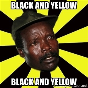 KONY THE PIMP - Black and yellow black and yellow