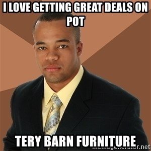 Successful Black Man - I love getting great deals on pot tery barn furniture