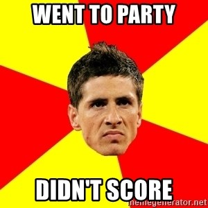 Fernando Torres Bitchface - Went to party didn't score