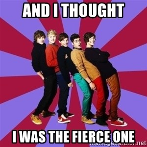 typical 1D - and i thought i was the fierce one