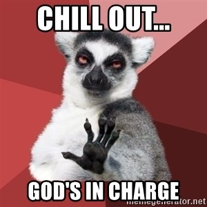 Chill Out Lemur - Chill out... God's in charge
