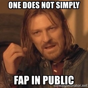 Aragorn - one does not simply fap in public