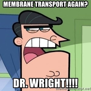 i blame dinkleberg - Membrane transport again? DR. wright!!!!