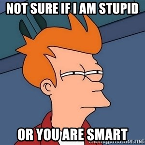 Futurama Fry - not sure if i am stupid or you are smart