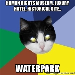 Winnipeg Cat - Human Rights Museum, Luxury Hotel, Historical Site.. WATERPARK