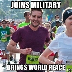 Ridiculously photogenic guy (Zeddie) - Joins MILITARY BRINGS WORLD PEACE